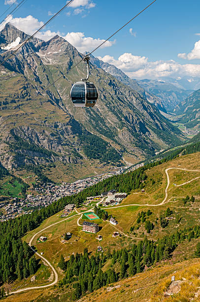 Cable car (gondola) toward Furi-Zermatt - XXI:スマホ壁紙(壁紙.com)