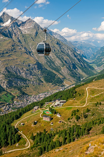 Ski Resort「Cable car (gondola) toward Furi-Zermatt - XXI」:スマホ壁紙(6)