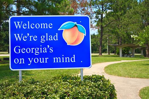 Southern USA「Georgia State Welcome Sign」:スマホ壁紙(2)