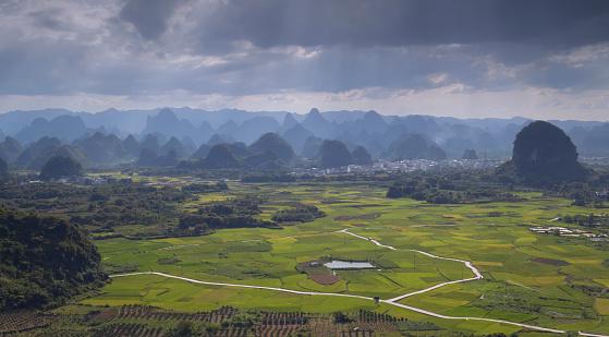桂林山水「Yangshuo,Guangxi,China」:スマホ壁紙(9)