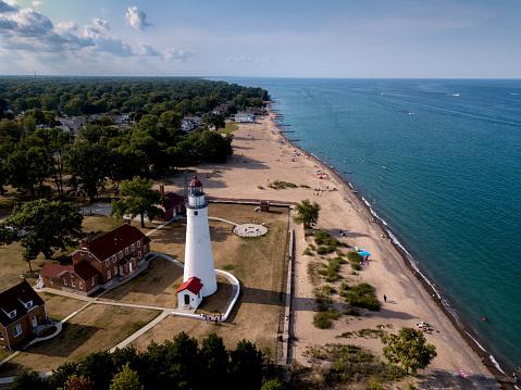 Beacon「The Lighthouse At Fort Gratiot In Port Huron, Michigan, Lake Huron」:スマホ壁紙(6)