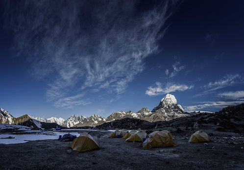 Khumbu「Nepal, Himalaya, Khumbu, Khumjung, tent camp」:スマホ壁紙(12)