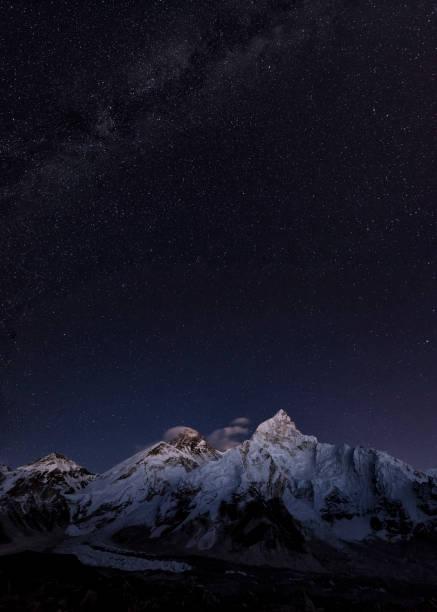 Nepal, Himalaya, Khumbu, Everest region, stars over Everest and Nuptse:スマホ壁紙(壁紙.com)