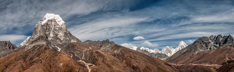Khumbu「Nepal, Himalaya, Solo Khumbu, Taboche Peak from Ama Dablam South West Ridge」:スマホ壁紙(15)