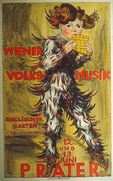 Chromolithograph「Poster To> Viennese Folk Music 'In The Vienna Prater」:写真・画像(17)[壁紙.com]