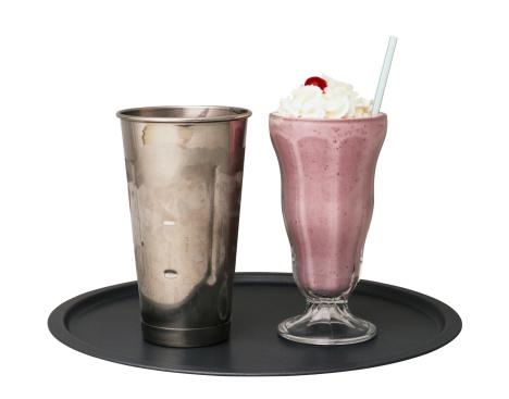 Milkshake「Strawberry Milk Shake on a Tray」:スマホ壁紙(17)