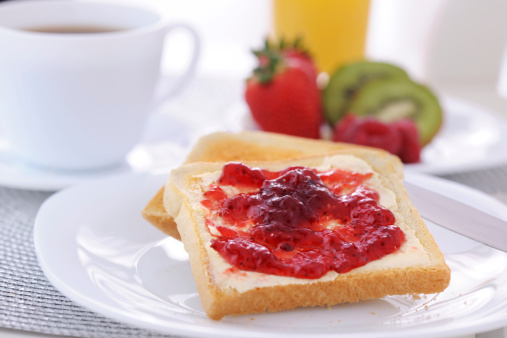Breakfast「Strawberry jam and bread」:スマホ壁紙(1)
