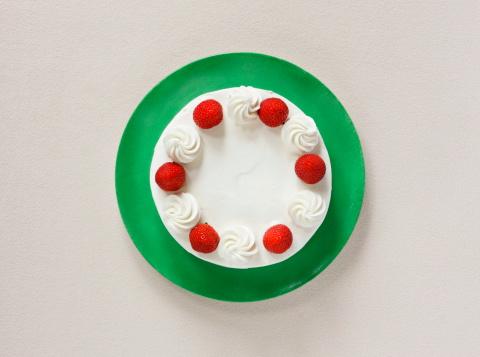 ケーキ「Strawberry cake,aerial view」:スマホ壁紙(16)