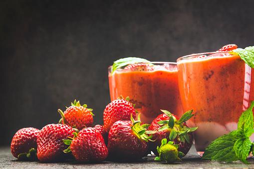 Mint Leaf - Culinary「Strawberry smoothie」:スマホ壁紙(4)
