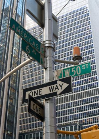 Lost「New York street sign Avenue of the Americas」:スマホ壁紙(11)