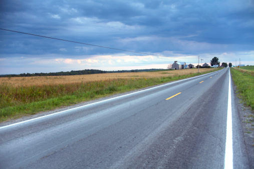 Empty Road「USA, New York State, Rural road」:スマホ壁紙(14)