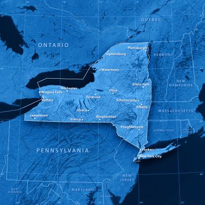 Adirondack Mountains「New York State Cities Topographic Map」:スマホ壁紙(9)