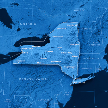 Great Lakes「New York State Cities Topographic Map」:スマホ壁紙(7)