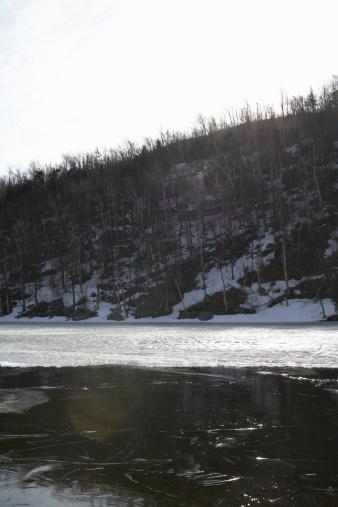 Adirondack Mountains「USA, New York State, Adirondacks, Chapel Pond, early winter」:スマホ壁紙(6)
