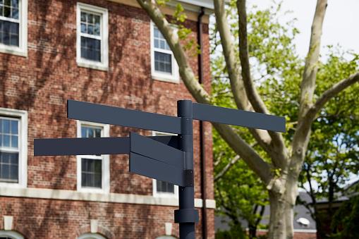 文字「USA, New York State, New York City, Directional sign in Manhattan」:スマホ壁紙(12)