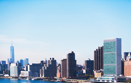 United Nations Building「USA, New York State, New York City, View of United Nations Headquarters」:スマホ壁紙(13)