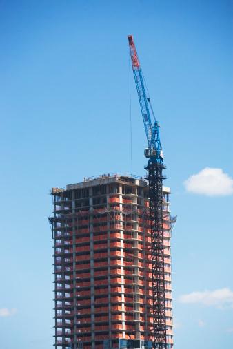 Crane - Construction Machinery「USA, New York State, New York City, Manhattan, Skyscraper under construction」:スマホ壁紙(17)