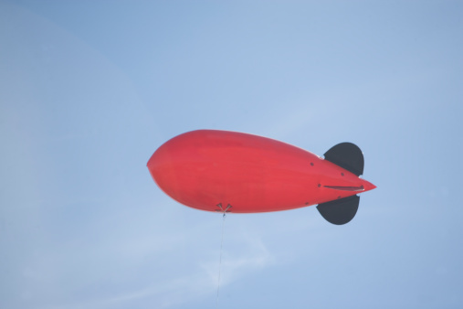 Airship「USA, New York State, New York City, Flying advertising blimp」:スマホ壁紙(0)