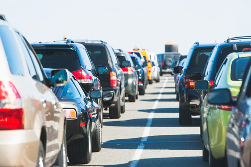 Traffic「USA, New York State, New York City, Cars in traffic jam」:スマホ壁紙(9)