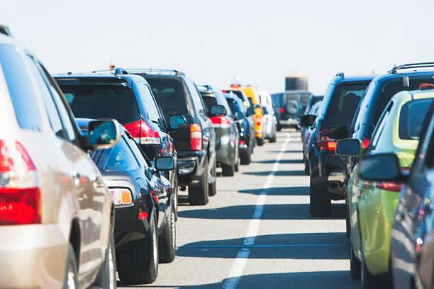 USA, New York State, New York City, Cars in traffic jam:スマホ壁紙(壁紙.com)