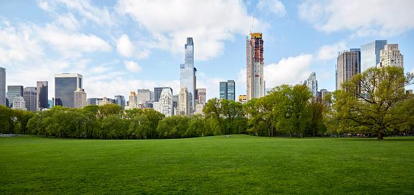 Urban Skyline「USA, New York State, New York City, Manhattan skyline with Central park in foreground」:スマホ壁紙(15)