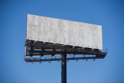 Decisions「USA, New York State, New York City, Empty billboard against clear sky」:スマホ壁紙(8)