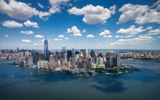 Cumulus Cloud「USA, New York State, New York City, Aerial view of downtown」:スマホ壁紙(11)