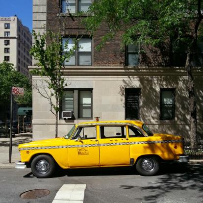 イエローキャブ「USA, New York State, New York City, Manhattan, Yellow Checker Cab」:スマホ壁紙(10)