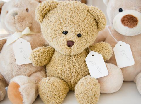 Stuffed Animals「USA, New York State, New York City, Teddy bears」:スマホ壁紙(17)