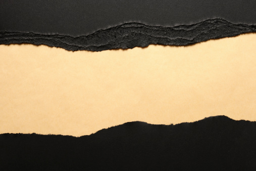 Fiber「Black torn paper borders on brown wrapping paper」:スマホ壁紙(13)