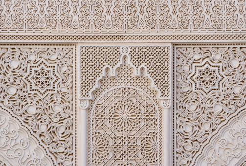 Fretwork「Morrocco, Fez, decorative fretwork, close-up」:スマホ壁紙(7)