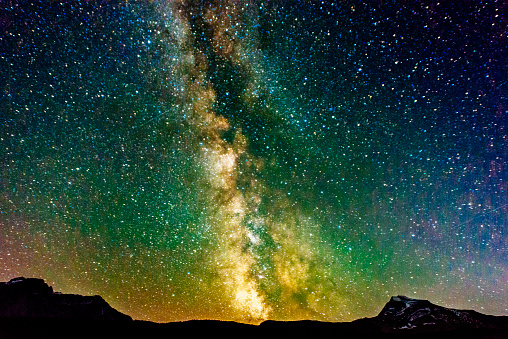 Milky Way「Milky Way Galaxy View Reynolds Mountain Glacier National Park Montana」:スマホ壁紙(18)