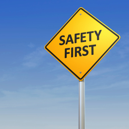 Number 1「Safety First Warning Sign」:スマホ壁紙(9)