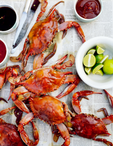 Crab - Seafood「Crabs on table」:スマホ壁紙(3)