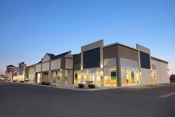 Strip Mall Store Building Exteriors at Sunset:スマホ壁紙(壁紙.com)