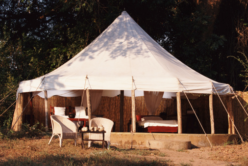 Tent「Tented accomodation, table and armchairs in foreground」:スマホ壁紙(15)