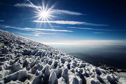 アダムス山「Sun and snow on mountain, Mount Adams, Washington State, America, USA」:スマホ壁紙(4)