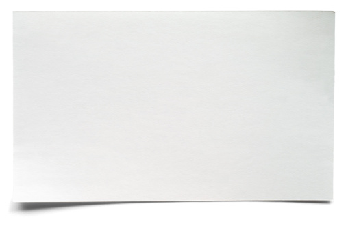 Adhesive Note「White isolated blank index card」:スマホ壁紙(12)