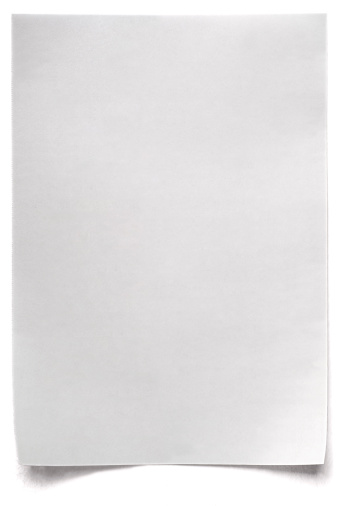Note - Message「White isolated sheet of blank Paper」:スマホ壁紙(16)