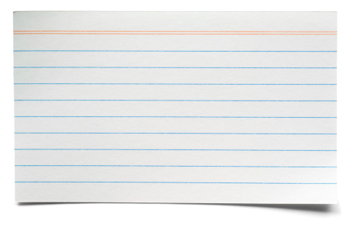 Adhesive Note「White isolated lined index card」:スマホ壁紙(3)