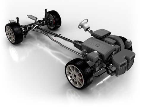 Power Supply「Car chassis - isolated on white with clipping path」:スマホ壁紙(3)