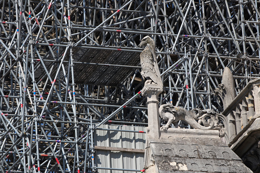 Restoring「Renovation of Notre Dame de Paris, Consolidation」:スマホ壁紙(3)