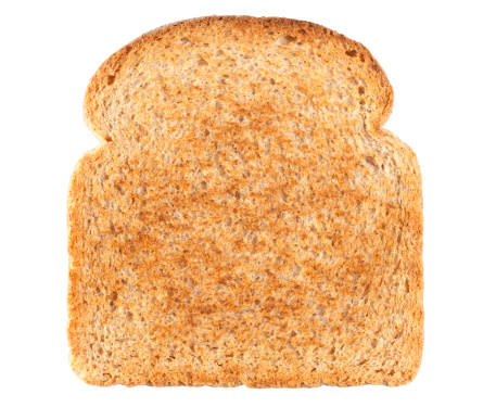 Loaf of Bread「Slice of Bread isolated on white background. Clipping Path included.」:スマホ壁紙(13)