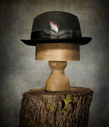 Fedora「Men's Bowler Hat on Tree Stump」:スマホ壁紙(17)