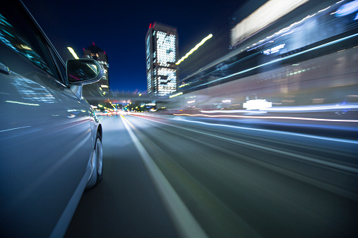 Light Trail「Driving city at night.」:スマホ壁紙(19)