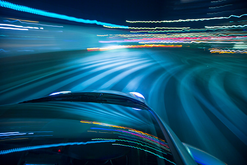 Light Trail「Driving city at night.」:スマホ壁紙(17)