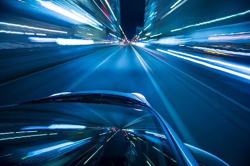 City Life「Driving city at night.」:スマホ壁紙(4)