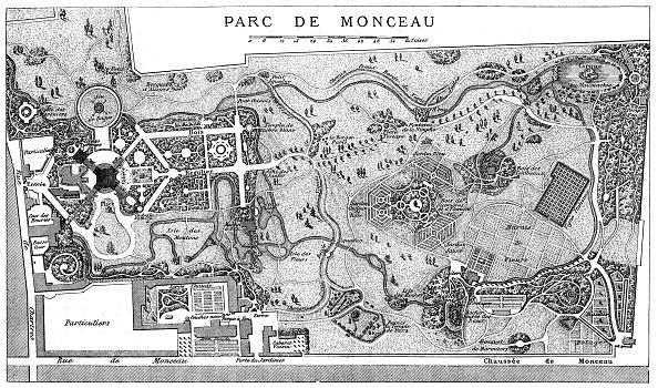 Ornamental Garden「Plan Of Monceau Park, Paris, 1778, (1885).」:写真・画像(17)[壁紙.com]
