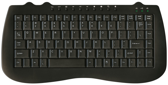 Computer Keyboard「Hi-res keyboard with clipping path on white background」:スマホ壁紙(8)