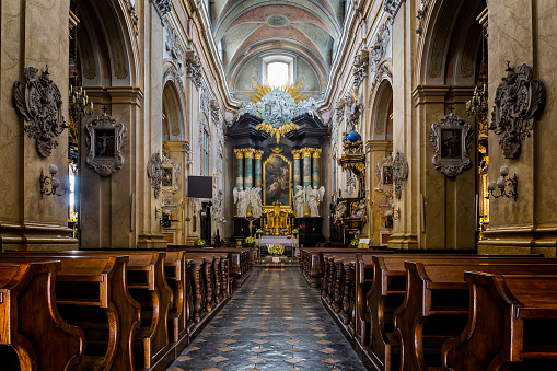 Pilgrimage「Baroque interior of the St. Stanislaus Church at Skałka, Krakow, Poland」:スマホ壁紙(13)